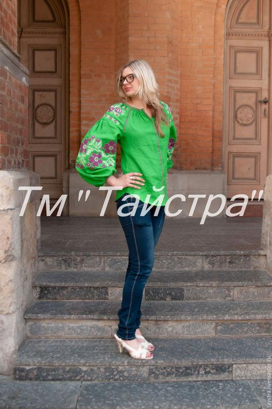 Блузки ручной работы. Ярмарка Мастеров - ручная работа. Купить Блузка яркая вышитая  бохо, этно стиль  Vita Kin,Bohemia. Handmade.