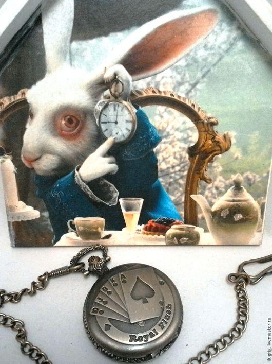 """Часы ручной работы. Ярмарка Мастеров - ручная работа. Купить Часы карманные """"Покер"""". Handmade. Часы, карты, 23 февраля"""