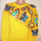 """Одежда ручной работы. Ярмарка Мастеров - ручная работа Джемпер """"бабочки"""". Handmade."""
