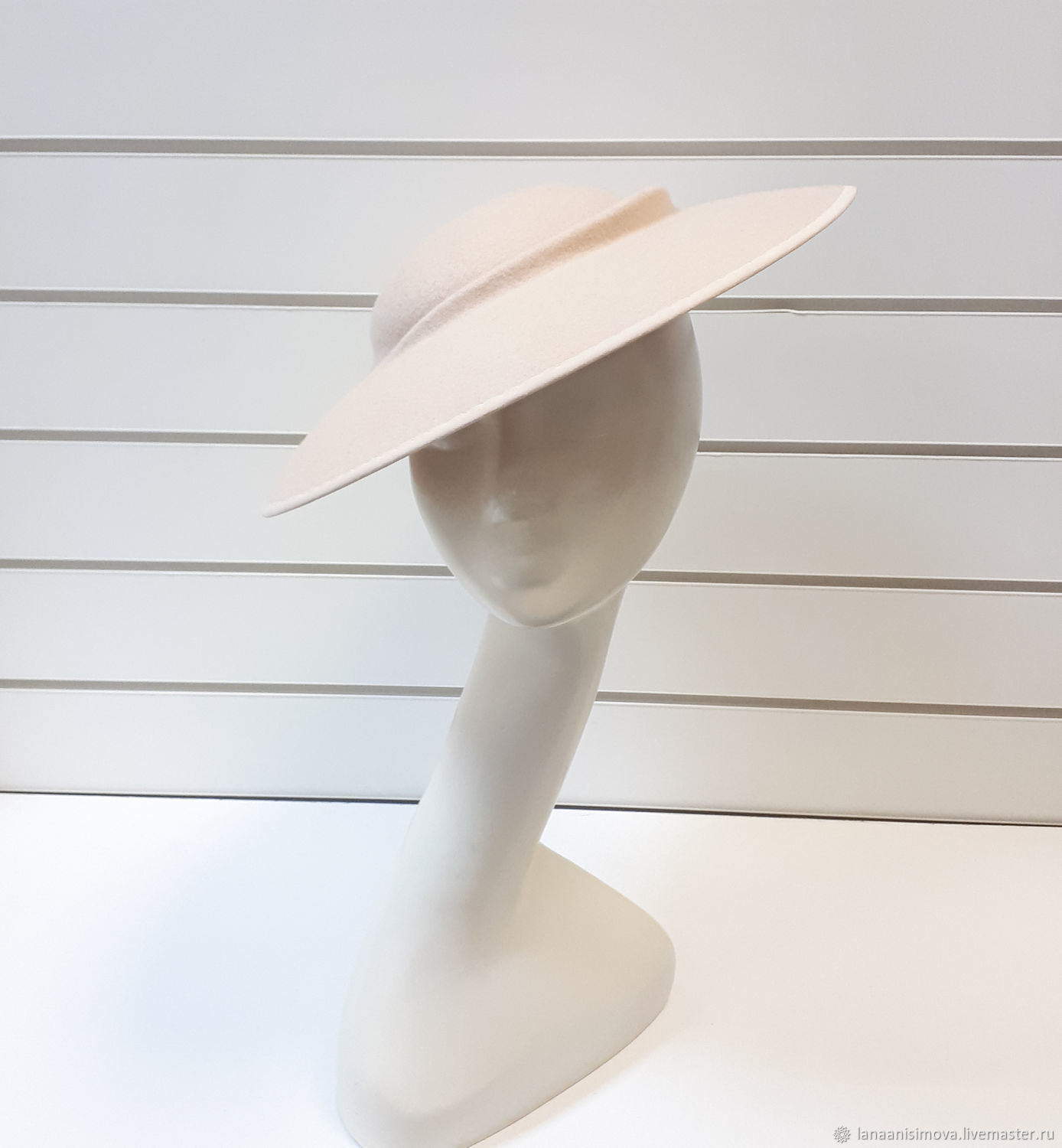 Author's hat Assiet. Color cream, Hats1, Moscow,  Фото №1