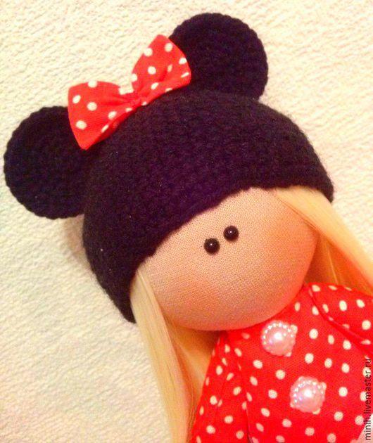 Куклы тыквоголовки ручной работы. Ярмарка Мастеров - ручная работа. Купить Интерьерная кукла Минни Маус. Handmade. Ярко-красный