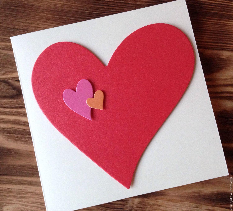 Как сделать открытку сердечки