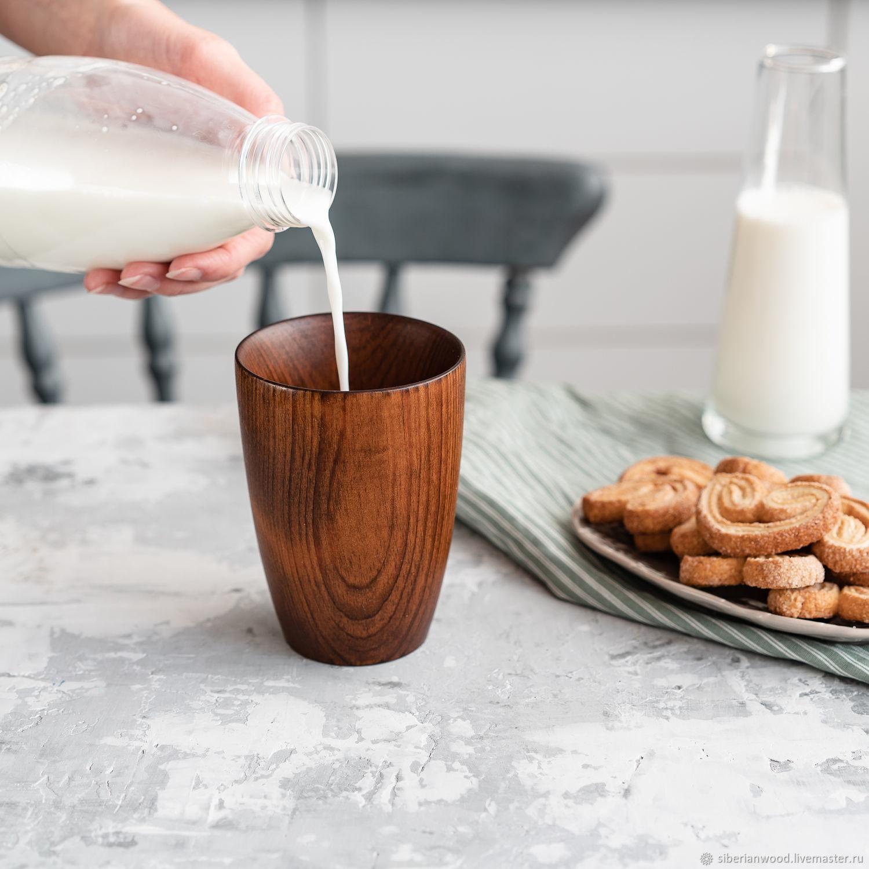 Drink glass made of natural wood Siberian cedar C36, Water Glasses, Novokuznetsk,  Фото №1