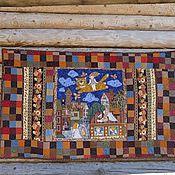 """Картины и панно ручной работы. Ярмарка Мастеров - ручная работа Одеяло или панно. """" Полет над городом ангелов"""" для Марии. Handmade."""