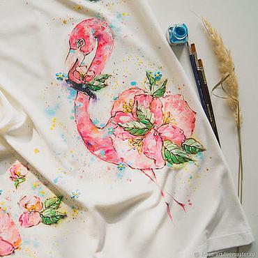 Одежда ручной работы. Ярмарка Мастеров - ручная работа платье Фламинго. Handmade.