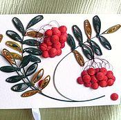 Открытки ручной работы. Ярмарка Мастеров - ручная работа Шоколадница с рябиной. Handmade.