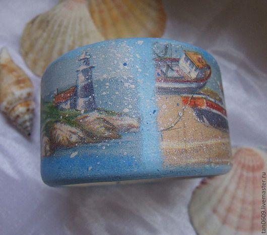 """Браслеты ручной работы. Ярмарка Мастеров - ручная работа. Купить Браслет """"у моря..."""". Handmade. Браслет, украшение, маяк"""