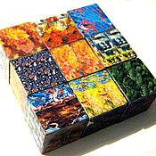 Куклы и игрушки ручной работы. Ярмарка Мастеров - ручная работа Кубики деревянные со стерео-картинками. Handmade.
