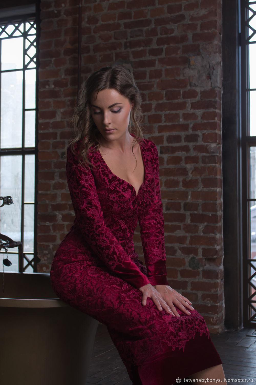 023f1bd23c Dresses handmade. Livemaster - handmade. Buy  Miss Bordo   evening dress in  Italian ...