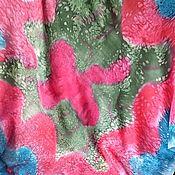 """Шарфы ручной работы. Ярмарка Мастеров - ручная работа Шёлковый шейный платок """"Ягодный Щербет"""" БАТИК. Германия. Handmade."""