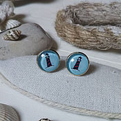 Украшения handmade. Livemaster - original item Earrings silver plated lighthouse. Handmade.