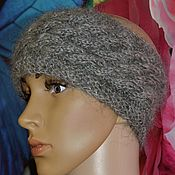 Аксессуары handmade. Livemaster - original item Headband down on the head of Uryupinsk natural grey goat down. Handmade.