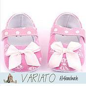 Туфельки нежно-розовые 11 см