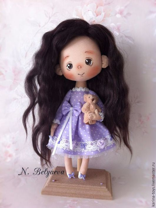 """Коллекционные куклы ручной работы. Ярмарка Мастеров - ручная работа. Купить Малышка """"Маруся"""". Handmade. Сиреневый, куклы ручной работы"""