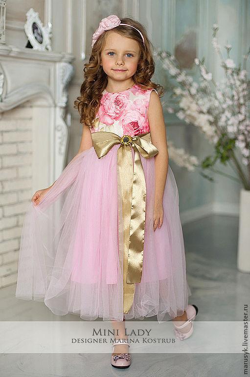 Одежда для девочек, ручной работы. Ярмарка Мастеров - ручная работа. Купить Платье Розалия. Handmade. Бледно-розовый, платье для девочки