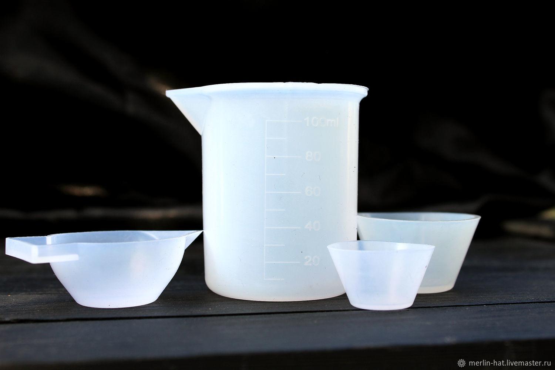 Набор силиконовых стаканов для смолы (4 шт), Инструменты для украшений, Тамбов,  Фото №1