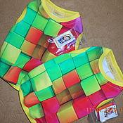 Одежда для питомцев ручной работы. Ярмарка Мастеров - ручная работа Майка разноцветные  кубики. Handmade.