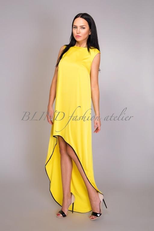 Платья ручной работы. Ярмарка Мастеров - ручная работа. Купить Платье из шелка 00143. Handmade. Желтый, шелк, blind