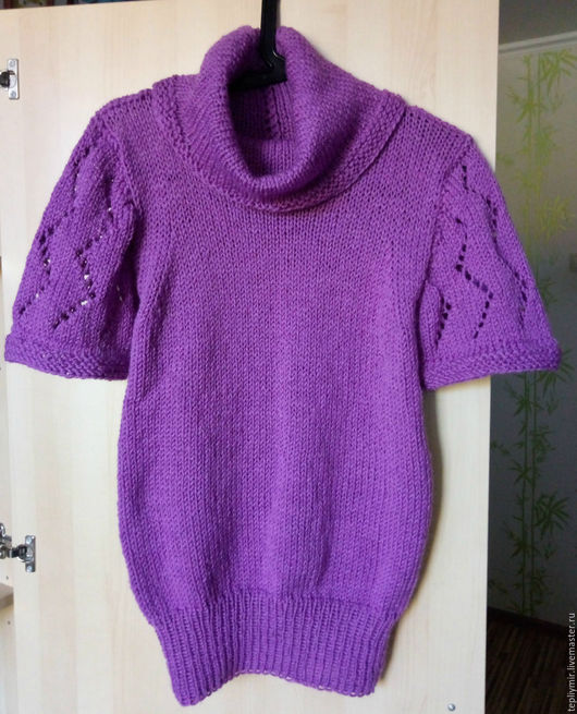 Одежда для девочек, ручной работы. Ярмарка Мастеров - ручная работа. Купить Детский шерстяной жилет сиреневый. Handmade. Тёмно-фиолетовый