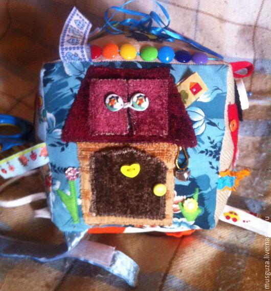 """Развивающие игрушки ручной работы. Ярмарка Мастеров - ручная работа. Купить Развивающий кубик для детей""""Разнообразный мир"""". Handmade. Комбинированный"""