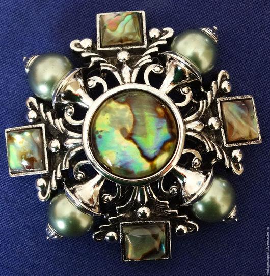 """Винтажные украшения. Ярмарка Мастеров - ручная работа. Купить Брошь """"Мальтийский крест"""" от Joan Rivers. Handmade. Комбинированный"""