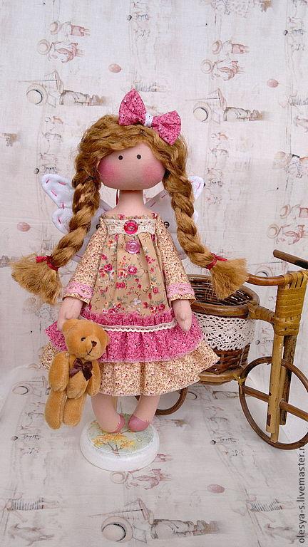 Коллекционные куклы ручной работы. Ярмарка Мастеров - ручная работа. Купить Nikki. Handmade. Бежевый, крещение, интерьерная кукла