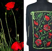 """Одежда ручной работы. Ярмарка Мастеров - ручная работа Кардиган """"Маки"""". Handmade."""