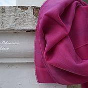 Аксессуары ручной работы. Ярмарка Мастеров - ручная работа Кашемировый шарф Фуксия, теплый шарф батик шерстяной. Handmade.
