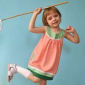 """Работы для детей, ручной работы. Ярмарка Мастеров - ручная работа Летнее платье """"Арбузный фреш"""". Handmade."""