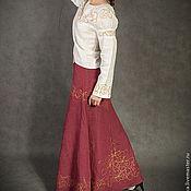 Одежда ручной работы. Ярмарка Мастеров - ручная работа Юбка бордовая. Handmade.