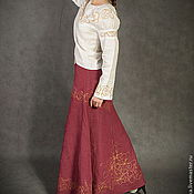 Одежда handmade. Livemaster - original item Skirt Burgundy. Handmade.