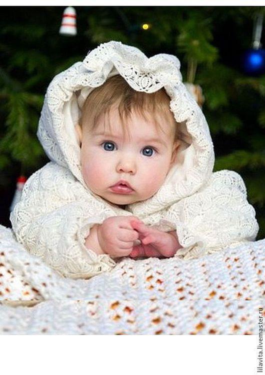 """Для новорожденных, ручной работы. Ярмарка Мастеров - ручная работа. Купить Платье Крестильное """"Рождественское"""". Handmade. Белый, кружево"""