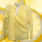 """Одежда ручной работы. Ярмарка Мастеров - ручная работа РАСПРОДАЖА 10% Невесомый кардиган из кид-мохера """"Сочный лайм"""". Handmade."""
