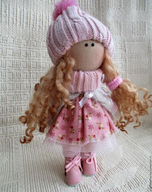 Куклы тыквоголовки ручной работы. Ярмарка Мастеров - ручная работа. Купить Текстильная куколка. Handmade. Розовый, подарок на любой случай