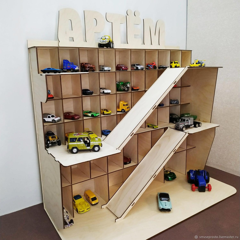 Парковка для машинок детская деревянная, Техника роботы транспорт, Санкт-Петербург,  Фото №1