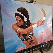 Картины ручной работы. Ярмарка Мастеров - ручная работа Картина Девушка и танец. Handmade.