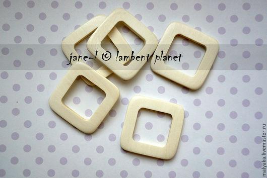 Кольцо квадратное из беленого Граба 40мм  КолКв-Гр-40 = 37руб./шт.