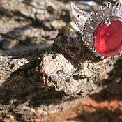 Украшения ручной работы. Ярмарка Мастеров - ручная работа кольцо 19 Рубин. Handmade.