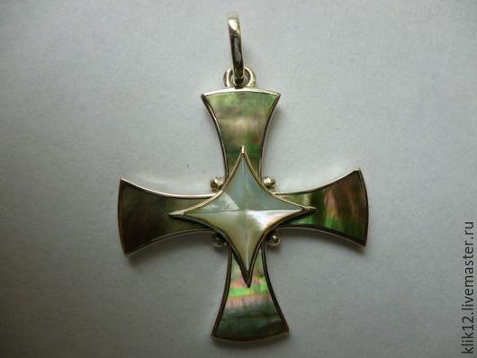 """Кулоны, подвески ручной работы. Ярмарка Мастеров - ручная работа. Купить Серебряный крест """"Звезда 2"""" авторская работа художника. Handmade."""