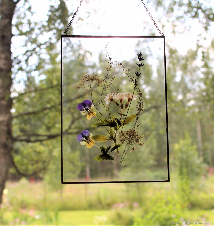 Гербарий в стекле. Гербарий из трав. Полевые цветы, Подвески, Санкт-Петербург,  Фото №1