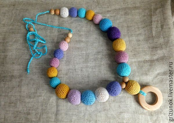 a9a6cc51d3e46 Teething Necklaces handmade. Livemaster - handmade. Buy Slingobusy Baby.Baby,  juniper beads ...