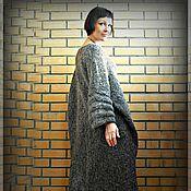 Одежда ручной работы. Ярмарка Мастеров - ручная работа Теплое вязаное платье-свитер «oversize». Handmade.