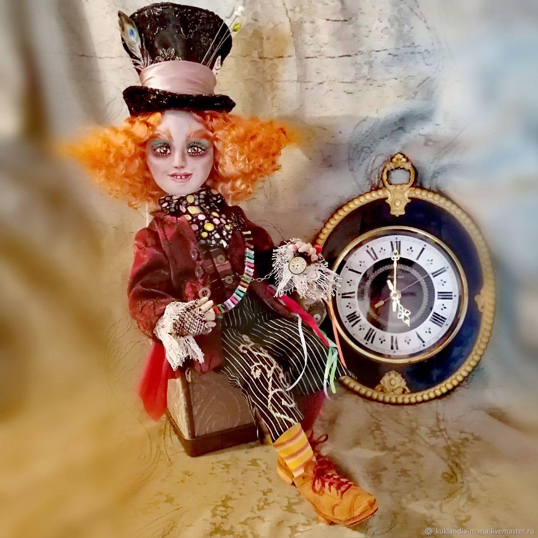 Безумный Шляпник, интерьерная, текстильная кукла, Куклы и пупсы, Санкт-Петербург,  Фото №1