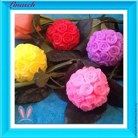 Мыло ручной работы. Ярмарка Мастеров - ручная работа. Купить Шар из роз. Handmade. Ярко-красный, роза, подарок женщине