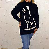"""Одежда ручной работы. Ярмарка Мастеров - ручная работа Пуловер """"КОШКА"""". Handmade."""