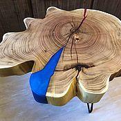 Столы ручной работы. Ярмарка Мастеров - ручная работа Кофейный столик из дуба «Цветок». Handmade.