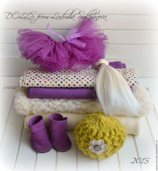 Куклы и игрушки ручной работы. Ярмарка Мастеров - ручная работа. Купить Набор для самостоятельного пошива куколки 26. Handmade. Фиолетовый