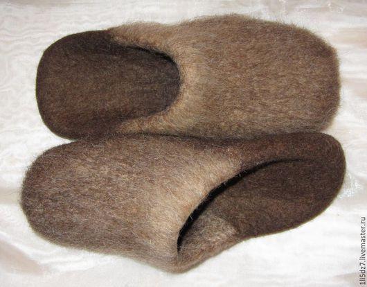 Обувь ручной работы. Ярмарка Мастеров - ручная работа. Купить Тапочки валяные. Handmade. Коричневый, Тапочки ручной работы