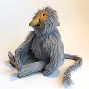 Куклы и игрушки ручной работы. Ярмарка Мастеров - ручная работа Игрушка из натурального меха. Обезьяна носач. Handmade.