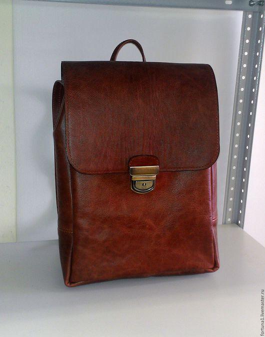 Рюкзаки ручной работы. Ярмарка Мастеров - ручная работа. Купить Рюкзак кожаный 95. Handmade. Рюкзак, городской рюкзак